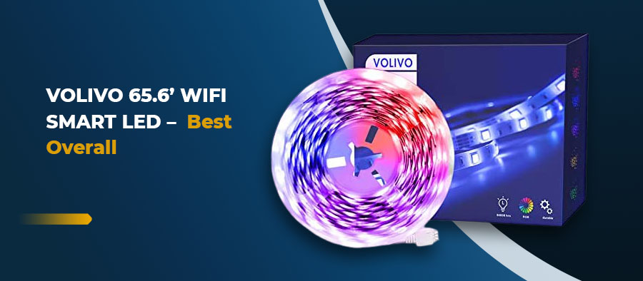 VOLIVO 65.6' WiFi Smart LED - Best Overall