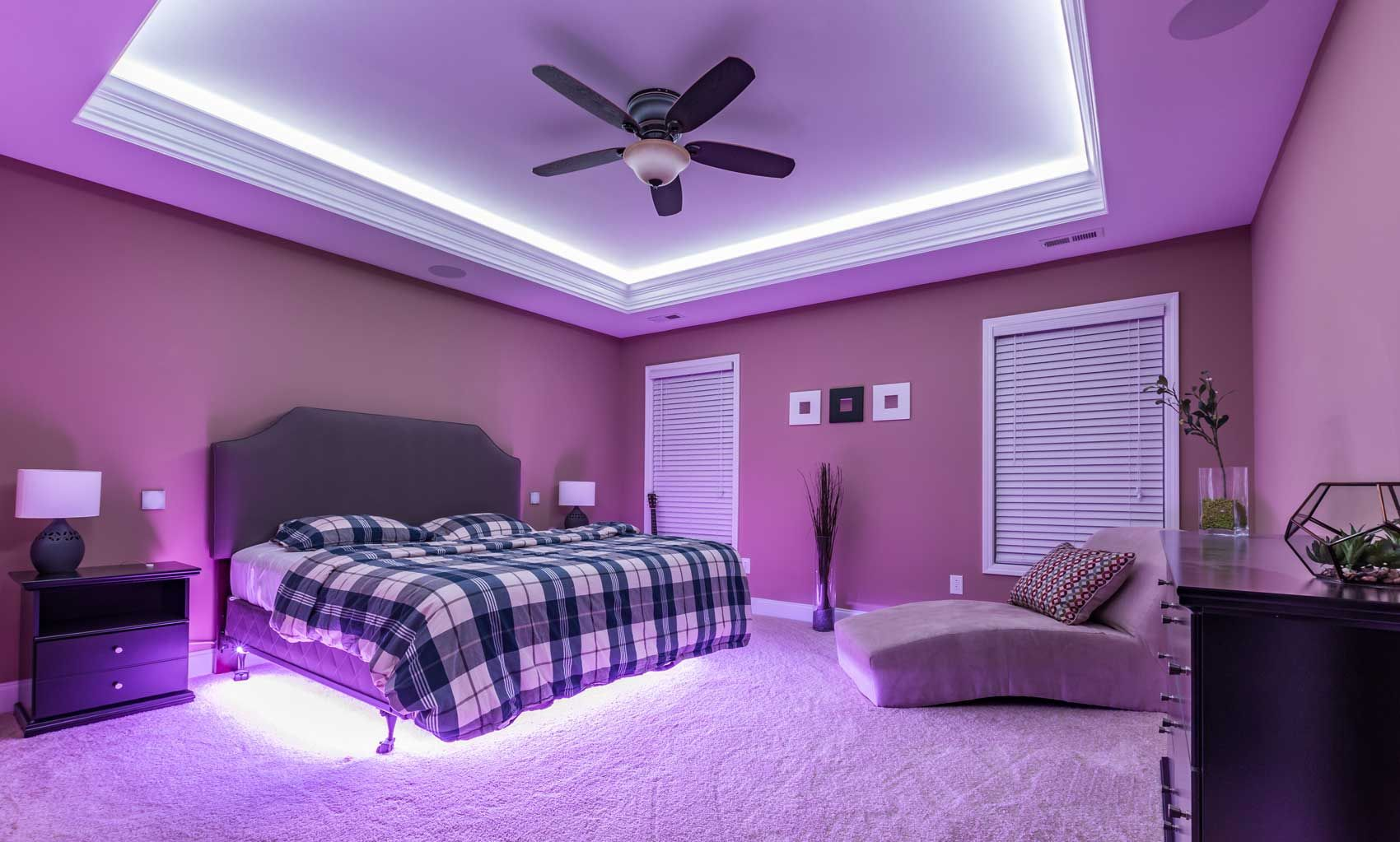 Put The LED Strips On The Ceiling